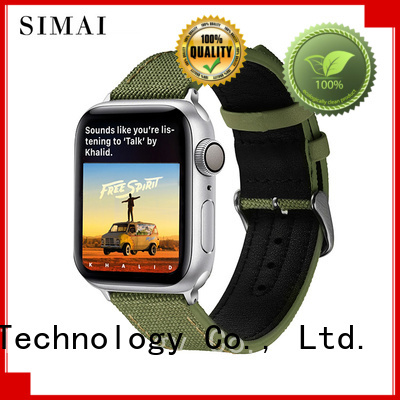 Simai snakeskin short leather watch strap for business for Huawei