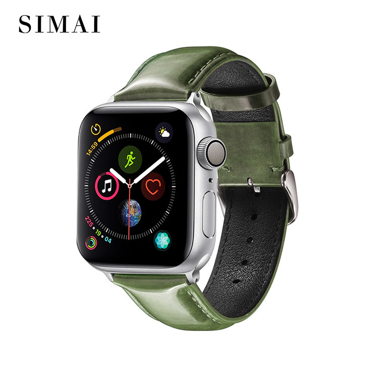 Apple Bright Leather Watch Band Wholesale Price