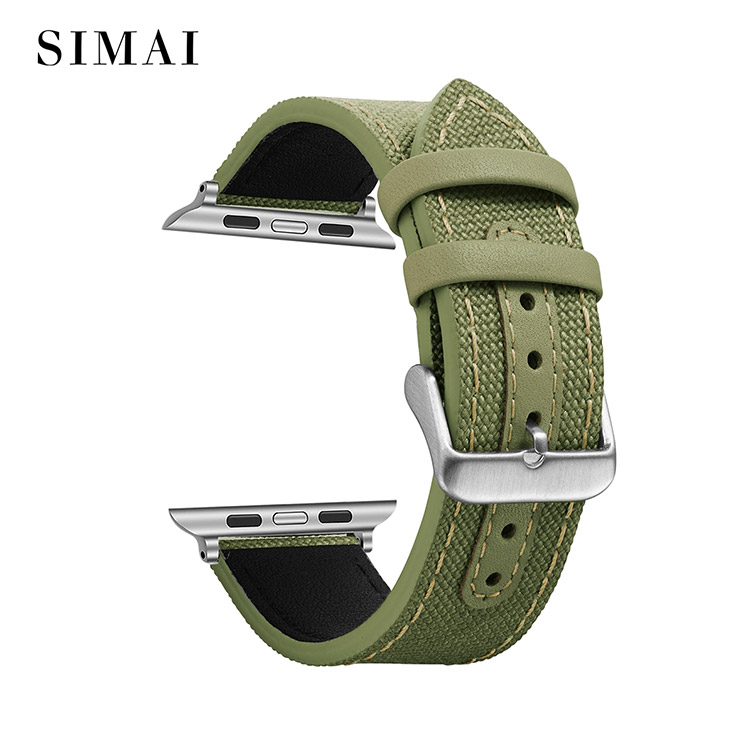 Simai strap 20mm canvas watch strap factory for iwath-1