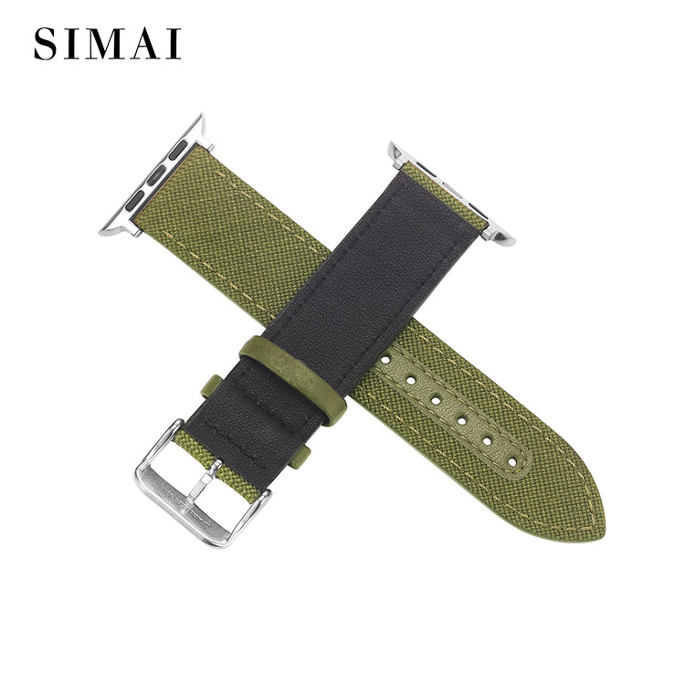 Simai strap 20mm canvas watch strap factory for iwath-2