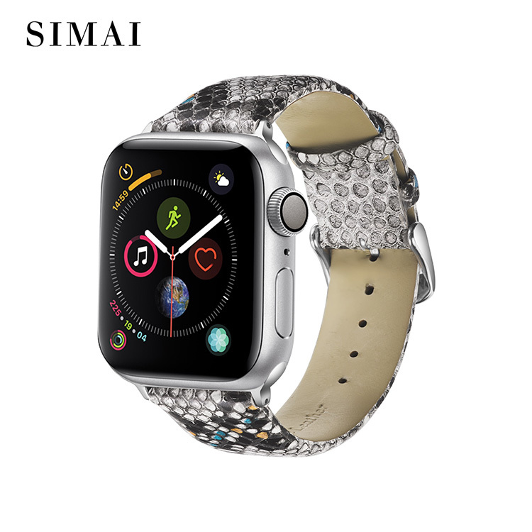 Wholesale Snakeskin Apple Watch Band Blue