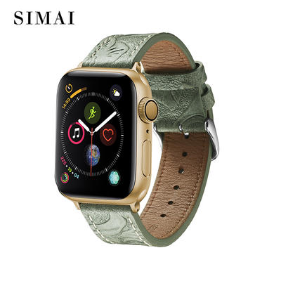 Leather Restoring Watch Band Army Green Wholesale