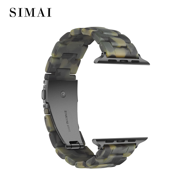 Simai resin metal watch strap manufacturers for apple-2
