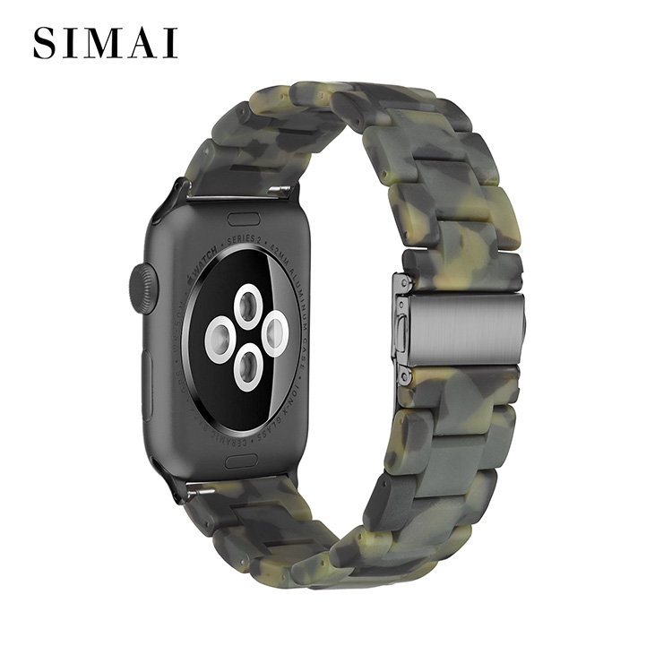 Simai resin metal watch strap manufacturers for apple-1