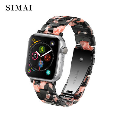 Quality Resin Watch Bands Rose in Black Color