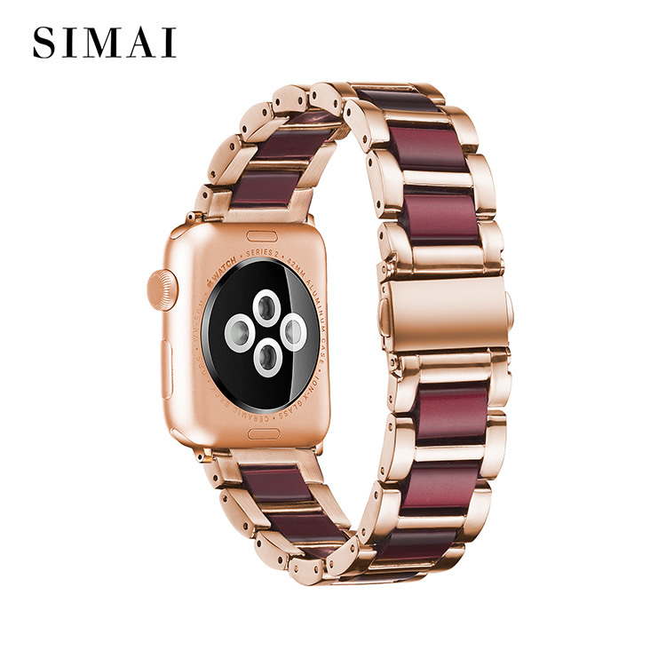 Steel Lined Resin Strap for Apple Watch Wholesale