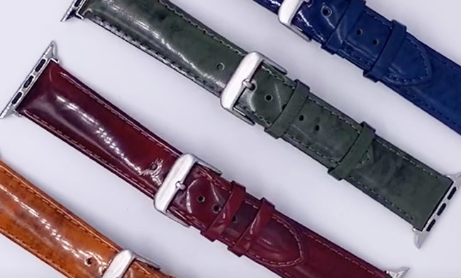 Wholesale Bright Leather Watch Band for Apple