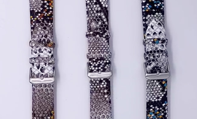 Custom Snakeskin Watch Band Wholesale Manufacturer