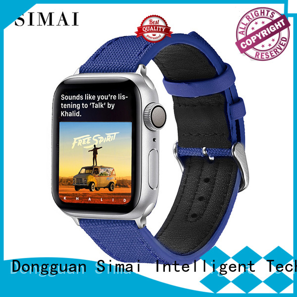 Simai snakeskin canvas replacement strap for business for iwath