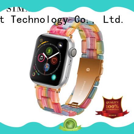 Simai green apple watch rubber strap manufacturers for Huawei