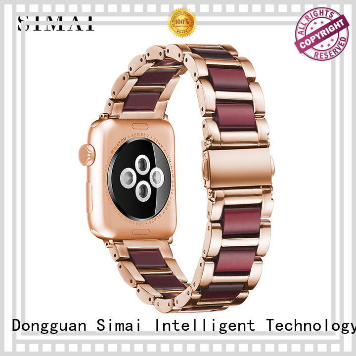Simai straps stainless steel watch band manufacturers company for apple