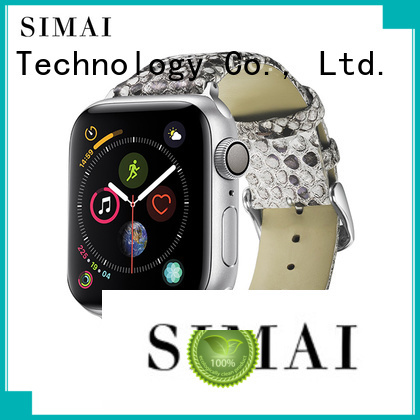 Simai leather slip through watch bands supply for cacio