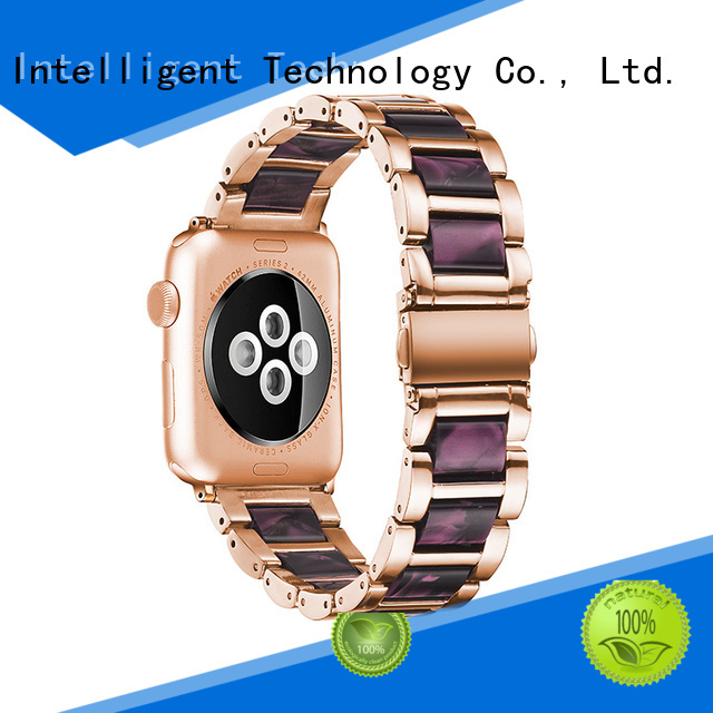 Latest steel lined resin watch band supplier beeswax for business for Huawei