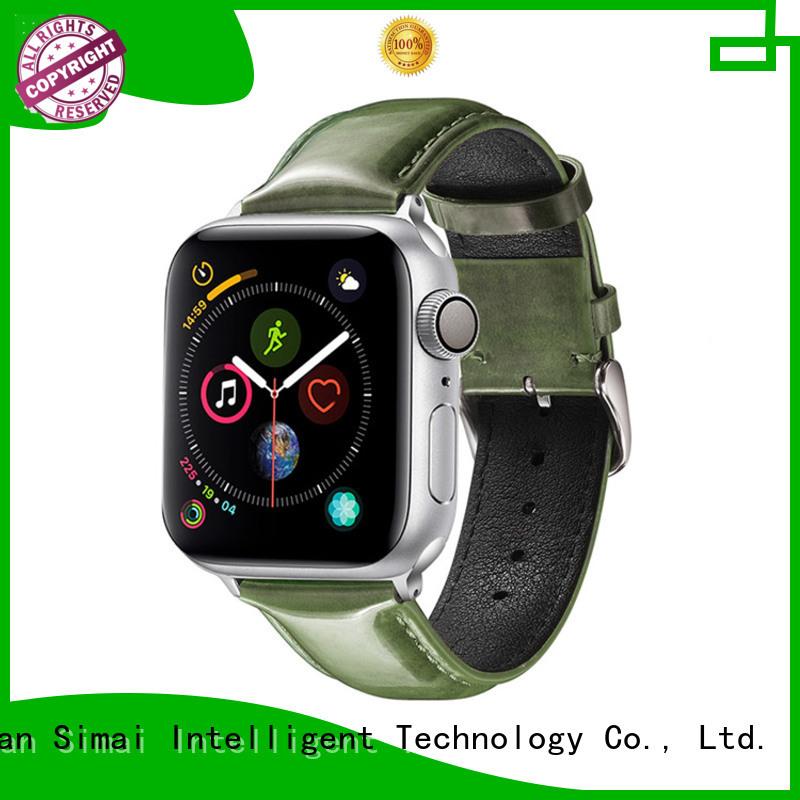 Simai straps Galaxy watch leather band supply for Samsung