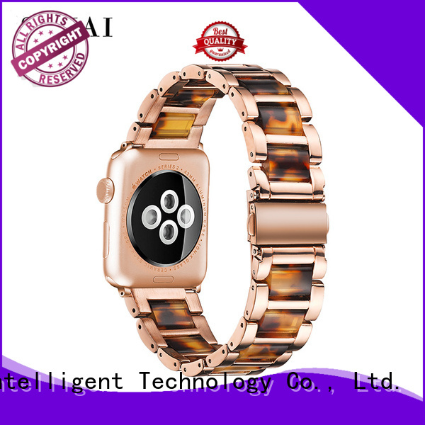 New steel lined resin watch band supplier apple company for Huawei