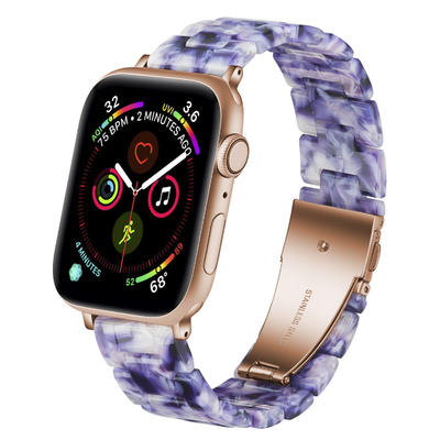 Blue and White Porcelain Apple Resin Watch Band Manufacturer
