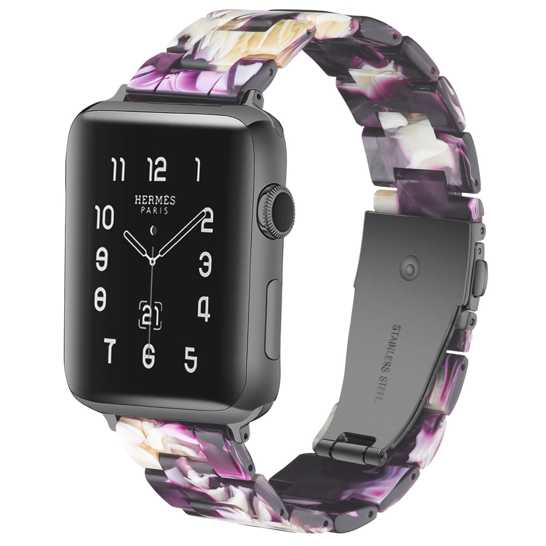 Custom Good Apple Watch Bands Dazzling Purple