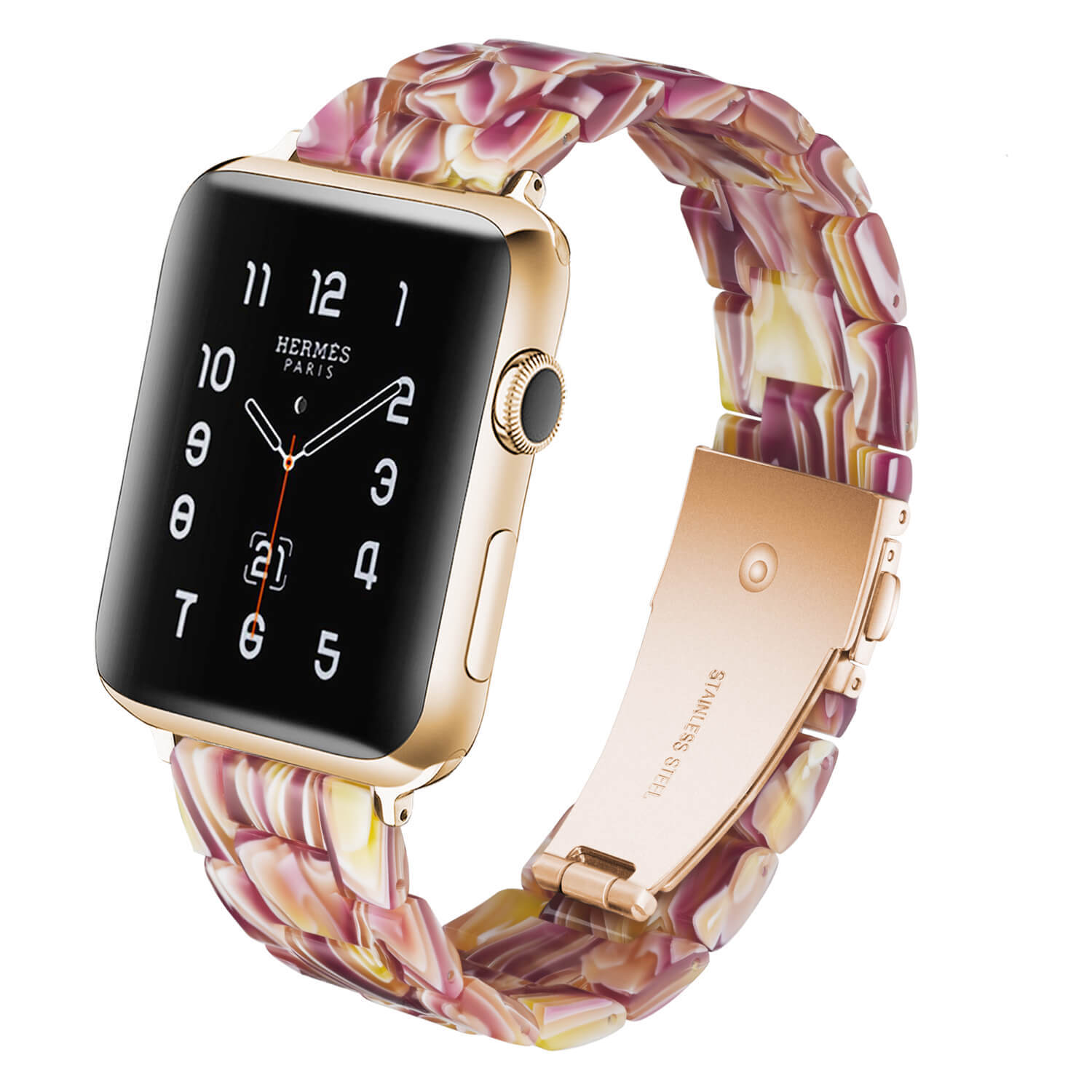 Facebook Red Resin Watch Strap Apple Watch Band Factory