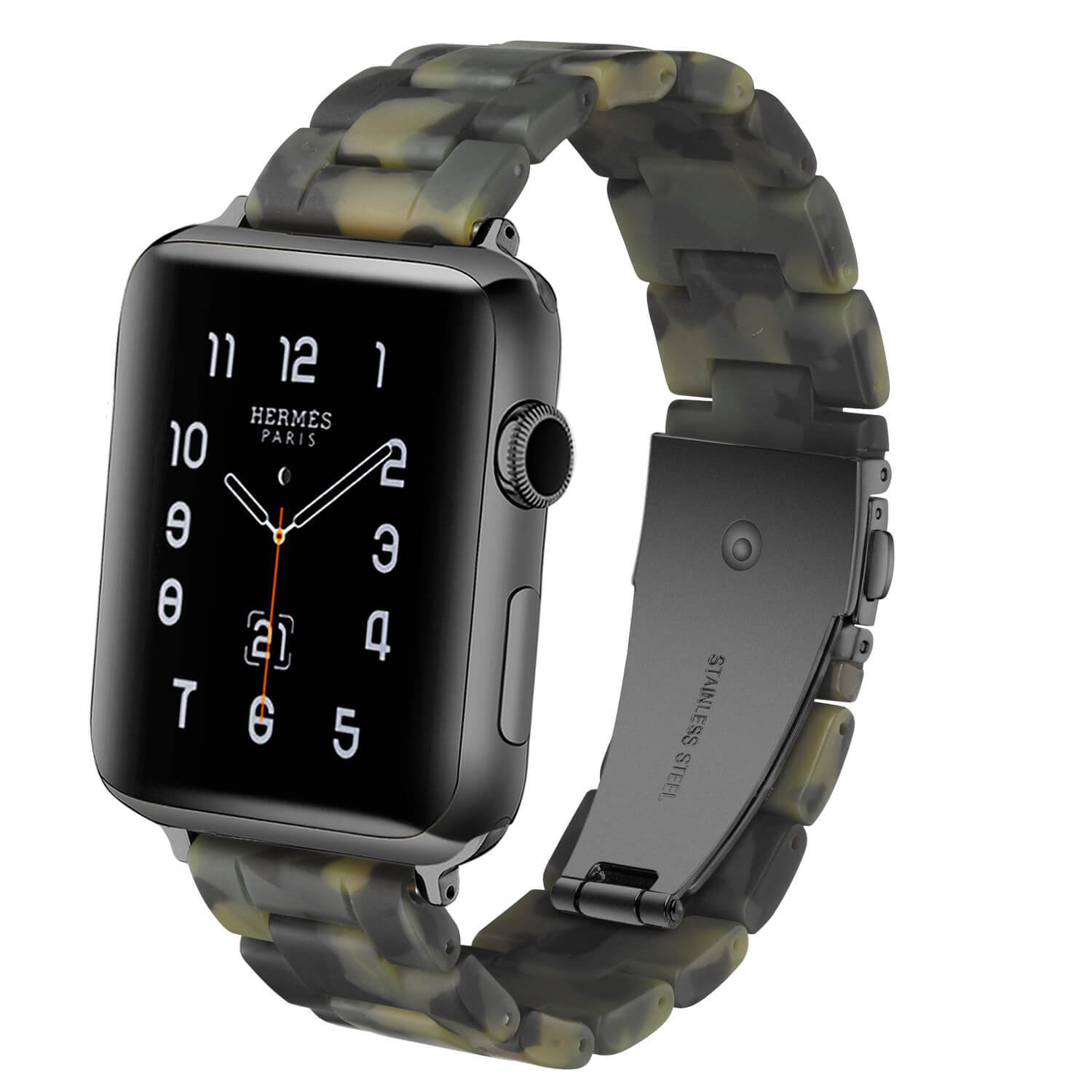 Wholesale Apple Watch Resin Band Matte Army Green