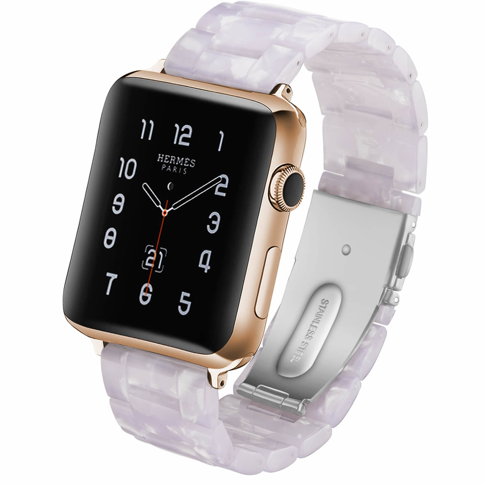 Wholesale Resin Watch Band Apple Watch Strap White