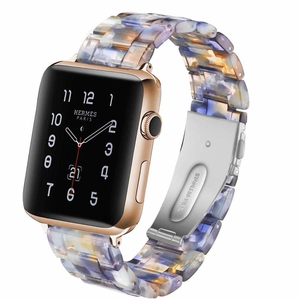 Custom Resin Strap for Apple Watch Bands Bule
