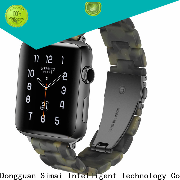Simai lined apple watch metal strap manufacturers for cacio