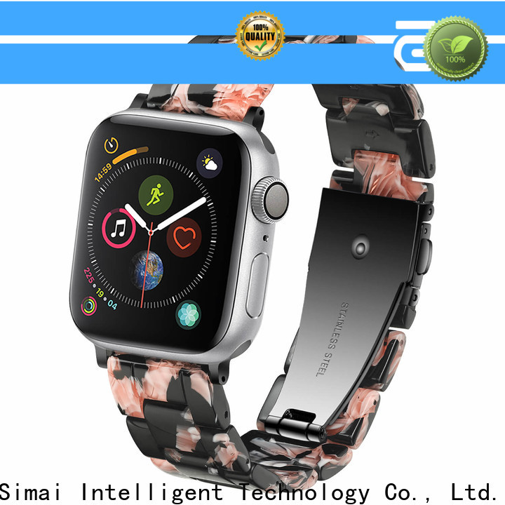Simai rated gold watch band bracelet for business for apple