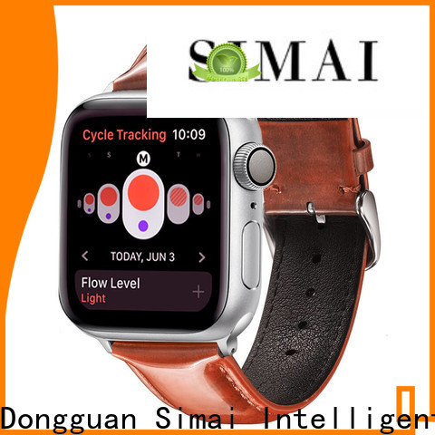 Simai Latest leather bracelet watch strap factory for Samsung