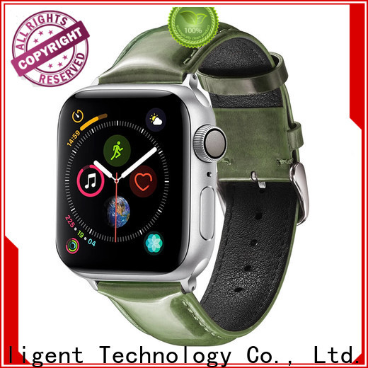 Top leather bracelet watch strap strap company for apple