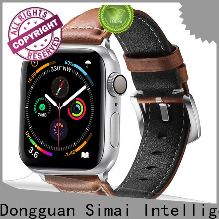 Top watch strap leather 20mm leather supply for apple