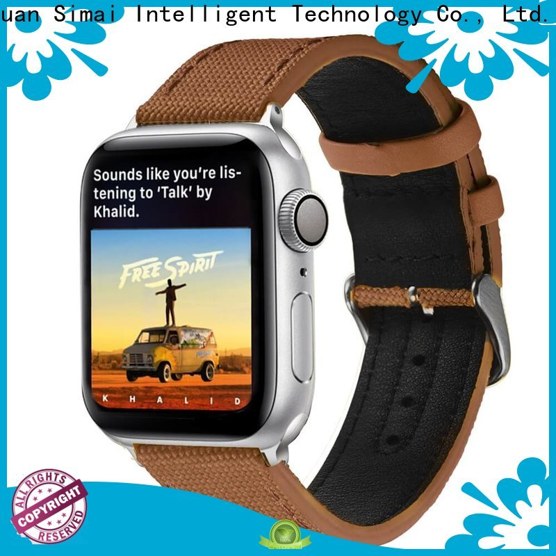 Simai aristocratic cotton canvas watch strap factory for Huawei