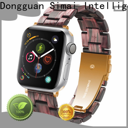 Simai Top apple watch 42 leather band supply for cacio