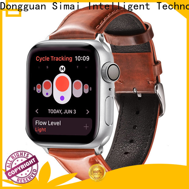 Simai High-quality leather watch band supplier for business for Huawei