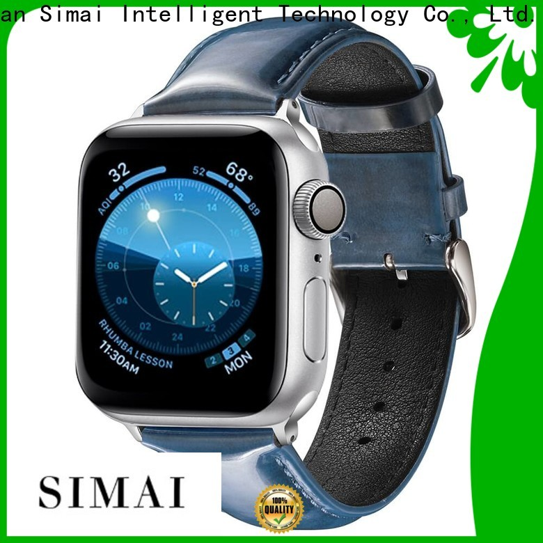Simai New leather watch straps suppliers suppliers for Huawei