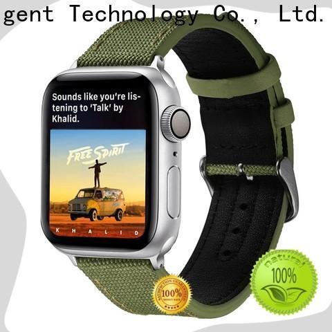 Custom canvas watch strap uk black factory for iwath