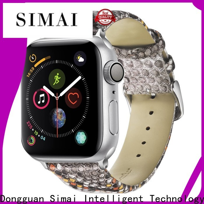 Simai Wholesale brown suede watch strap factory for iwath