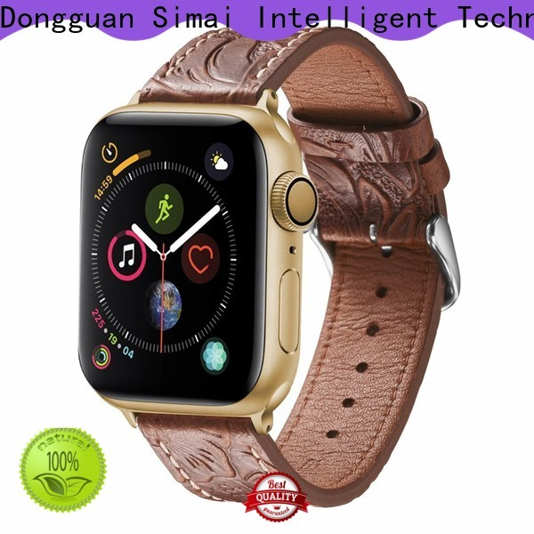 Simai watch antique leather watch strap company for iwath