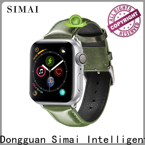 Simai Latest bright leather watch band for business for Huawei