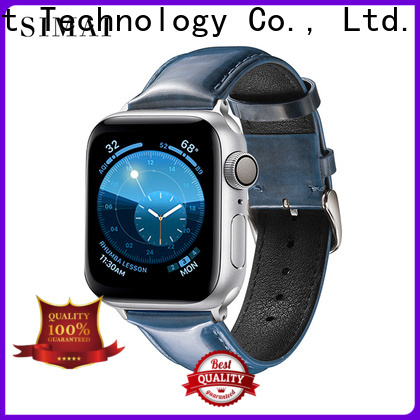 Simai quality custom made leather watch strap manufacturers for apple