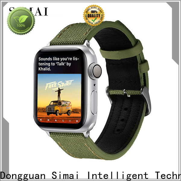 Simai leather canvas strap military watch for business for Huawei