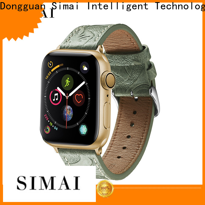 Simai Best wide leather wristbands for watches factory for Huawei