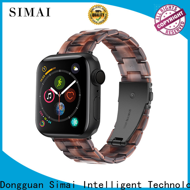 Latest black metal watch band strap factory for apple