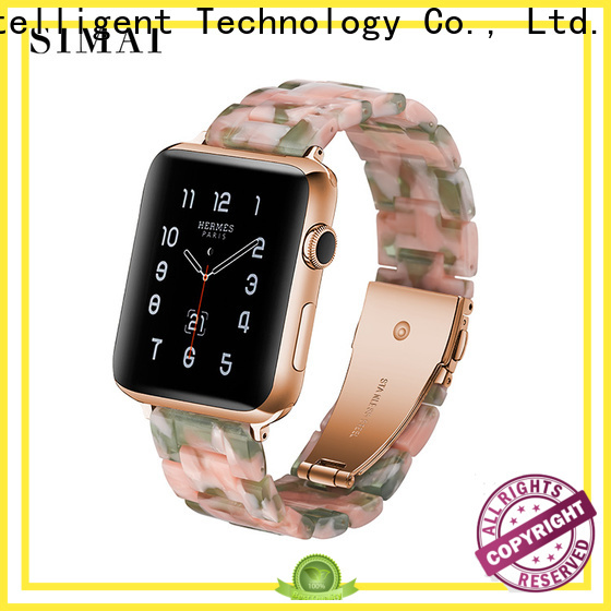 Simai Wholesale black stainless apple watch band suppliers for Samsung