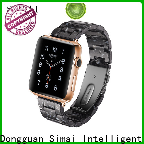 Custom mens watches steel strap quality company for apple