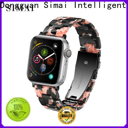 Simai leopard apple watch black steel band manufacturers for cacio