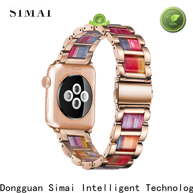 Wholesale steel lined resin watch band waterproof manufacturers for apple