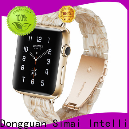 Simai lined black and gold watch band suppliers for Samsung