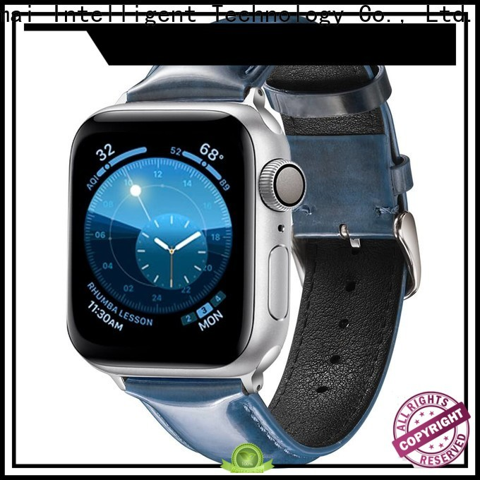 Latest leather watch band manufacturer wine factory for apple