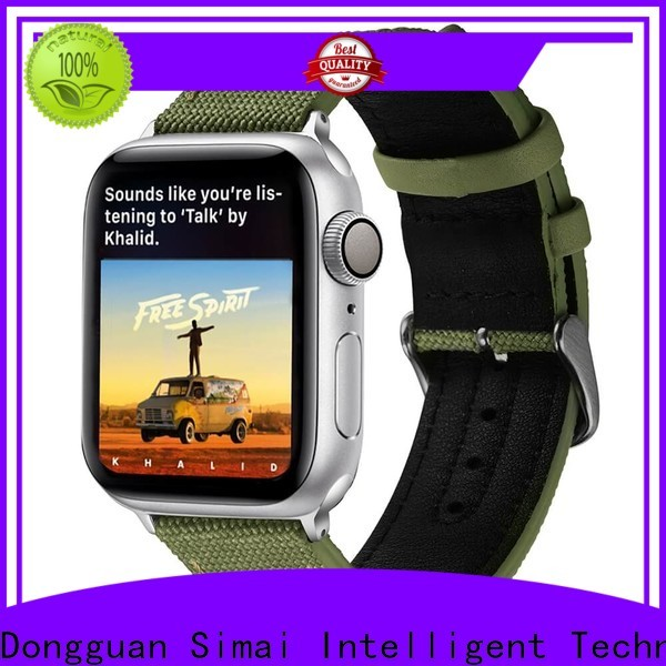Simai band military canvas strap for business for iwath