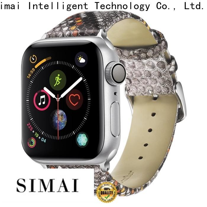 Custom designer watch straps orange factory for apple